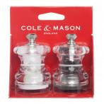 """Комплект мелнички за сол и пипер """"BUTTON"""" - 6,5 см. - COLE&MASON"""
