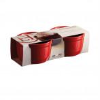"""Комплект 2 броя керамични купички / рамекини """"RAMEKINS SET N°10"""" - цвят червен - EMILE HENRY"""