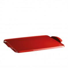 """Керамична плоча за печене """"BAKING TRAY"""" - 42 х 31 см - цвят червен - EMILE HENRY"""