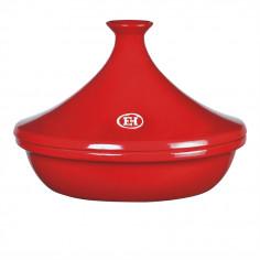 """Керамичен тажин """"TAGINE"""", голям - Ø 32 см - цвят червен - EMILE HENRY"""