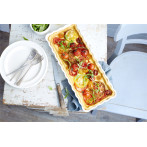 """Керамична плитка провоъгълна форма за тарт """"SLIM RECTANGULAR TART DISH"""" - 36 х 15 - цвят бял - EMILE HENRY"""