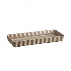 """Imagén: Керамична плитка провоъгълна форма за тарт """"SLIM RECTANGULAR TART DISH"""" - 36 х 15 - цвят бежов - EMILE HENRY"""