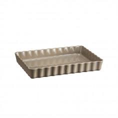 "Imagén: Керамична провоъгълна форма за тарт ""DEEP RECTANGULAR TART DISH ""- 33,5 х 24 - цвят бежов - EMILE HENRY"