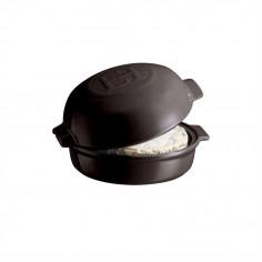 """Керамична форма за печене с капак """"CHEESE BAKER"""" - Ø 19 см - цвят черен - EMILE HENRY"""