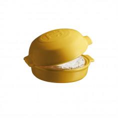 """Керамична форма за печене с капак """"CHEESE BAKER"""" - Ø 19 см - цвят жълт - EMILE HENRY"""