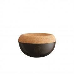 "Керамичен канистер за сол с капак ""SALT CELLAR"" - Ø 14,5 см - цвят черен - EMILE HENRY"