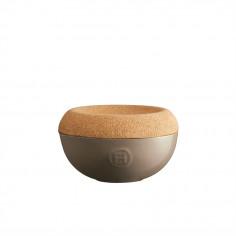 "Керамичен канистер за сол с капак ""SALT CELLAR"" - Ø 14,5 см - цвят бежов - EMILE HENRY"