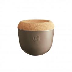 "Imagén: Керамичен канистер за чесън с капак ""GARLIC POT"" - Ø 14,5 см - цвят бежов - EMILE HENRY"