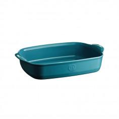 """Керамична провоъгълна форма за печене """"RECTANGULAR OVEN DISH""""- 36,5 х 23,5 см - цвят син - EMILE HENRY"""