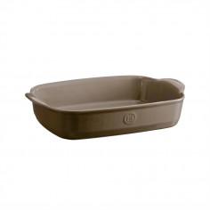 """Керамична провоъгълна форма за печене """"RECTANGULAR OVEN DISH""""- 36,5 х 23,5 см - цвят бежов - EMILE HENRY"""