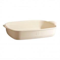 """Керамична правоъгълна форма за печене """"LARGE RECTANGULAR OVEN DISH"""" - 42 х 28 см - цвят екрю - EMILE HENRY"""