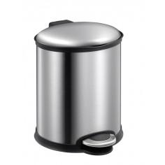 """Кош за отпадъци с педал  """"ELLIPSE""""- 6 литра - мат - EKO"""