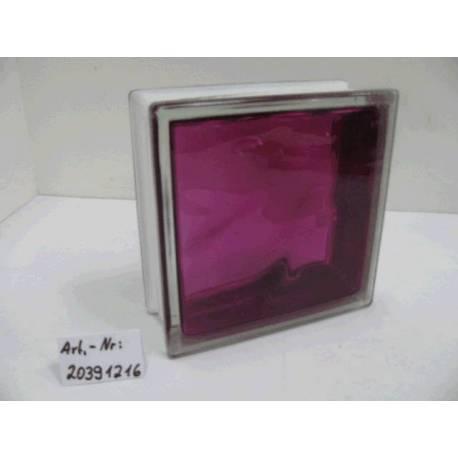 Стъклени блокчета - Рубинено червени 19x19x8 см