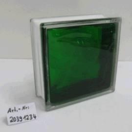 Стъклени тухли - смарагдово зелено 19x19x8 см