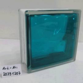 Стъклени тухли - тюркоаз 19x19x8 см