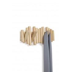 """Закачалка за стена """"PICKET """" - цвят натурално дърво - UMBRA"""