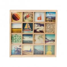 """Колаж за снимки """"GRIDART"""" - цвят натурално дърво - за 16 снимки - UMBRA"""