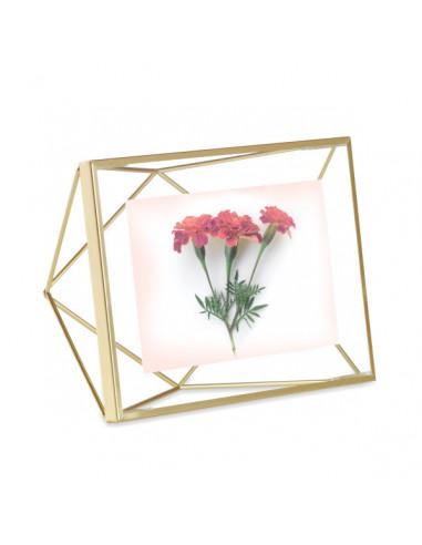 "Рамка за снимки ""PRISMA"" - цвят месинг - 10х15см - UMBRA"