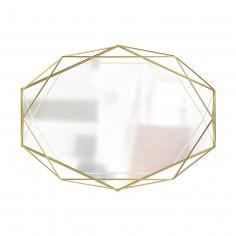 """Огледало за стена """"PRISMA"""" - цвят месинг - UMBRA"""