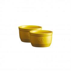 "Комплект 2 броя керамични купички / рамекини ""RAMEKINS SET N°9"" - цвят жълт - EMILE HENRY"