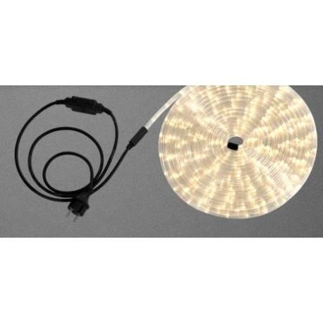 Светлинен маркуч - 9 м, бял