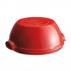 """Imagén: Керамична кръгла форма за печене на хляб """"ROUND BREAD BAKER"""" - цвят червен - EMILE HENRY"""