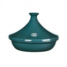 """Керамичен тажин """"TAGINE"""", малък - Ø 27 см - цвят синьо-зелен - EMILE HENRY"""