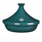 """Керамичен тажин """"TAGINE"""", голям - Ø 32 см - цвят синьо-зелен - EMILE HENRY"""