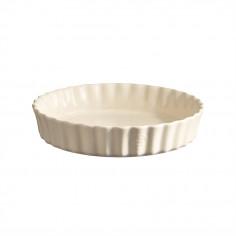 """Керамична дълбока форма за тарт """"DEEP FLAN DISH"""" - Ø 28 см - цвят екрю - EMILE HENRY"""