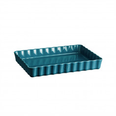 "Imagén: Керамична провоъгълна форма за тарт ""DEEP RECTANGULAR TART DISH ""- 33,5 х 24 - цвят син - EMILE HENRY"