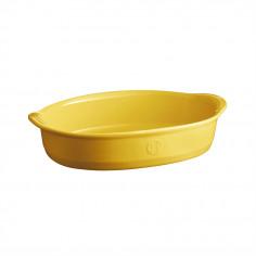 """Керамична овална форма за печене """"SMALL OVAL OVEN DISH"""" - 27,5 х 17,5 см - цвят жълт - EMILE HENRY"""