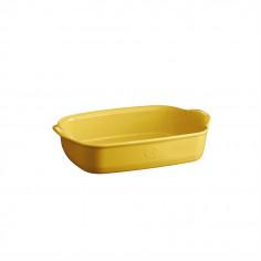 """Керамична правоъгълна форма за печене """" SMALL RECTANGULAR OVEN DISH""""- 30 х 19 см - цвят жълт - EMILE HENRY"""
