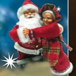Дядо Коледа и Баба Коледа 30 см, музикални