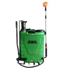 Гръбна пръскачка Ziel - 16 л, помпа с акумулаторна батерия, ръчно пръскане