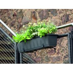 Балконско сандъче за цветя - 60 см, антрацит, с напоителна система