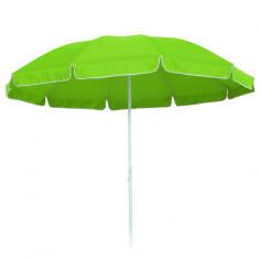 Плажен чадър 2.5 м, светло зелен
