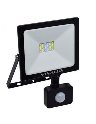 LED прожектор със сензор NYX - 20 W, 1600 lm, 6400 K, черен