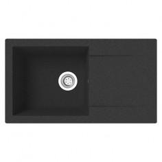 Imagén: Кухненска мивка за вграждане Respekta Denver - Полимерен материал Mineralite, 78х43,5 см, черна