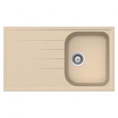 Imagén: Кухненска мивка за вграждане Schock Orlando - Полимерен материал Cristalite®, 86х50 см, пясъчно бежова