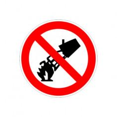 "Стикер ""Забранено гасенето с вода"", 12х12 см"