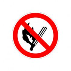 """Табела """"Забранено пушенето и паленето на огън"""", 23х23 см"""