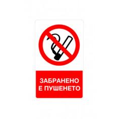 """Стикер """"Пушенето забранено"""", 8х13 см"""