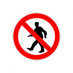 "Табела ""Забранено за пешеходци"", 12х12 см"