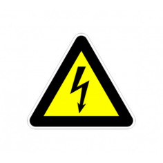 """Стикер """"Опасност от електричество"""", 13х12 см"""