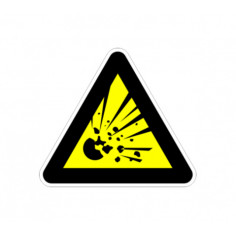 """Стикер """"Взривоопасни материали"""", 13х12 см"""
