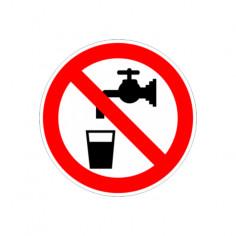 """Стикер """"Водата не е за пиене"""", 12х12 см"""
