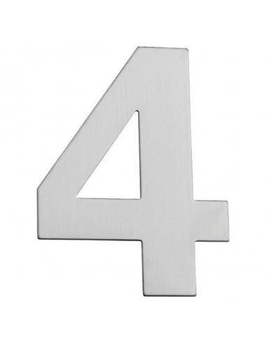 Номер за входна врата Portaferm 4, неръждаема стомана, 15 см