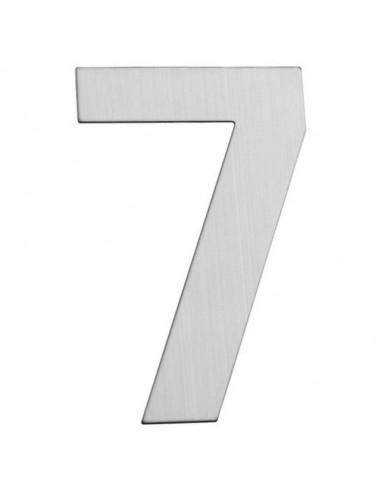 Номер за входна врата Portaferm 7, неръждаема стомана, 15 см