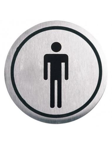 """Табела Portaferm """"Мъже"""", неръждаема стомана, Ø6 см"""