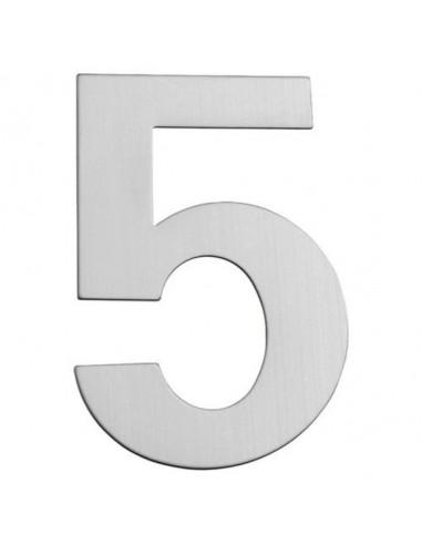 Номер за входна врата Portaferm 5, неръждаема стомана, 15 см